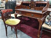 Sale 8904 - Lot 1014 - Reproduction Carved Desk together with a Single Chair