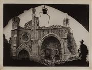 Sale 9092P - Lot 11 - Destroyed Ruined Cathedral Ypres 1917 -
