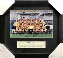Sale 9112T - Lot 35 - Framed Balmain Tigers team photo 1988. Certificate available (40 x 43cm)