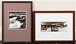 Sale 9165H - Lot 139 - A Framed photographic print of Doyles-Watsons Bay together with another of the sea. Larger frame size 43.5x33.5