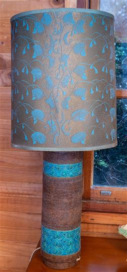Sale 9191W - Lot 731 - An Italian retro table lamp in the Bitossi manner (Total height 85cm)