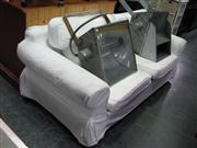 Sale 7937A - Lot 1129 - White 3 Seater Sofa Bed