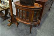 Sale 8159 - Lot 1034 - Tray Top Side Table With Glass Panel Sides
