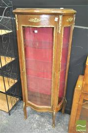 Sale 8272 - Lot 1008 - Raised Timber Vitrine with Gilt Mounts and Glass Shelves