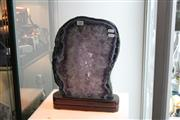 Sale 8283 - Lot 85 - Amethyst Display Piece on Stand