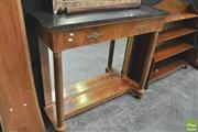 Sale 8392 - Lot 1013 - Stone Top Single Drawer Hall Table
