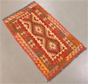 Sale 8445K - Lot 36 - Summer Afghan Tribal Kilim Rug , 124x76cm, Finely handwoven in Northern Afghanistan using high quality local wool. Vibrant summer co...