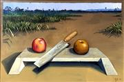 Sale 8544A - Lot 5029 - Andrew Bennett (1965 - ) - Apples and Oranges, 1990 50 x 75cm