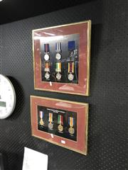 Sale 8797 - Lot 2160 - 2 Framed Reproduction Medals 1860-1900, 1914-1918