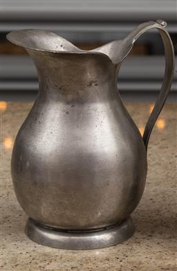 Sale 9160H - Lot 166 - A large Pewter Pitcher, Height 26cm