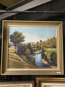 Sale 9176 - Lot 2040 - Colin Richardson The Allyn River at Allynbrooke oil on board, 70 x 80cm (frame) signed lower right