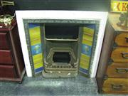 Sale 7974A - Lot 1011 - Cast Iron Fireplace w Decorative Tiles