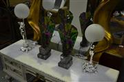 Sale 8031 - Lot 1051 - 2 Pairs Of Lady Figure Table Lamps