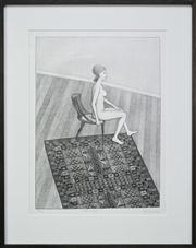 Sale 8298 - Lot 12 - John Brack - Nude in Profile, 1978 64 x 47cm