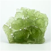Sale 8162 - Lot 63 - Jade Carved Persimmon