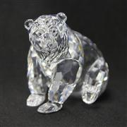 Sale 8412B - Lot 62 - Swarovski Crystal Bear with Box - Height 7.8cm