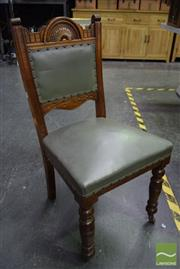 Sale 8542 - Lot 1007 - Set of 4 Victorian Dining Chairs