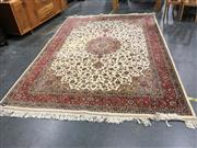 Sale 8795 - Lot 1018 - Large Red and Cream Persian Floor Rug