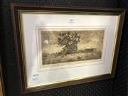 Sale 8903 - Lot 2073 - Gary Baker The Old Dairy drypoint etching ed. 16/20, signed -