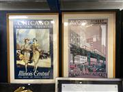 Sale 8910 - Lot 2054 - Pair of Chicago c1920s Reproduction Advertisement Posters