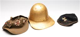 Sale 9253 - Lot 155 - A group of various vintage hats inluding a Russian army Afghanka (Afghan War Uniform Cap), original ink stamp to inner lining (3)