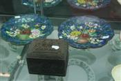 Sale 7874 - Lot 42 - Cloisonne Pair of Plates & a Timber Box (69, 171)