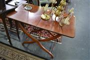Sale 8093 - Lot 1744 - Mahogany Folding Serving Table