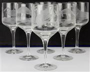 Sale 8169 - Lot 33 - Orrefors & Gordon Glass White Wine Setting for Six Persons
