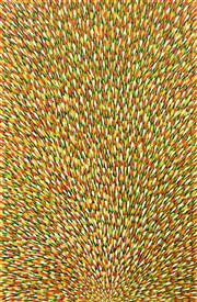 Sale 8260A - Lot 70 - Mary Rumble Pitjara (c.1957 - ) - Bush Tucker, Awelye, Bush Medicine 150 x 96cm (framed and ready to hang)