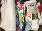 Sale 8310A - Lot 316 - A large quantity of various colourful and embroidered table cloths