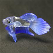 Sale 8412B - Lot 63 - Swarovski Crystal Fish with Blue Fins in Box - Length 8.5cm