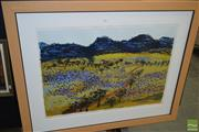 Sale 8509 - Lot 2019 - Gail English - Purple Spring, 1996, lithograph ed. 34/55, 100 x 125cm, signed and dated lower right