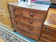 Sale 8676 - Lot 1056 - Late Georgian Bow Front Chest of Five Drawers