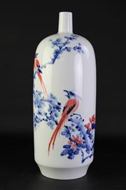 Sale 8860 - Lot 43 - Large Bottle Shaped Chinese porcelain Vase H:54cm