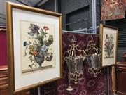 Sale 8882 - Lot 1027 - Pair of Gilt Framed Botanical Prints, in the 17th century style, with hand-coloured accents
