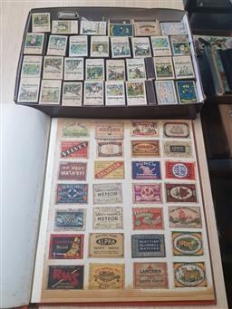 Sale 9152 - Lot 2332 - Binder of Match Box Covers & Collection of Matches Boxes