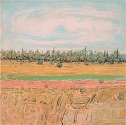 Sale 9244A - Lot 5047 - CLEM MILLWARD (1929 - ) The Long Paddock colour lithograph ed. 59/95 47.5 x 47.5 cm (frame: 82 x 83 x 3 cm) signed and dated lower r...