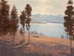Sale 9256A - Lot 5161 - MICHAEL MCCARTHY (1940 - ) Loch Maree oil on 21.5 x 29 cm (frame: 33 x 40 x 3 cm) signed lower right