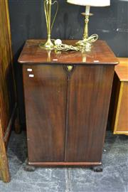 Sale 8039 - Lot 1005 - Good Art Deco Gents Low Bow w Brass Fittings, & Fitted Drawers