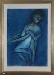 Sale 8098A - Lot 29 - Robert Dickerson- Mother and Child, pastel, 75x55cm, signed lower right.