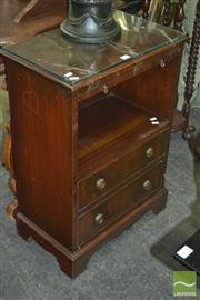 Sale 8312 - Lot 1072 - Timber Bedside with Glass Top