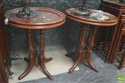 Sale 8418 - Lot 1013 - Pair of Mahogany Wine Tables