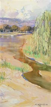 Sale 8475 - Lot 508 - Colleen M Parker (1944 - 2008) - Hunter River 37 x 18cm