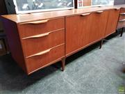 Sale 8607 - Lot 1002 - Good Quality McIntosh Teak Sideboard (H: 76 W: 201 D: 45cm)