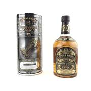 Sale 8830W - Lot 103 - 1x Chivas Brothers 12YO Chivas Regal Blended Scotch Whisky - old bottling in canister