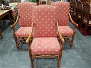 Sale 8904 - Lot 1033 - Set of Three Louis XIV Style Armchairs