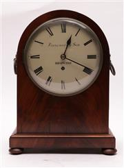 Sale 9027 - Lot 18 - Finnemore & Sons Clock with Twin Handles, With keys and Pendulum (H:39cm)