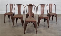 Sale 9215 - Lot 1521 - Set of 6 stackable metal chairs (h85cm)