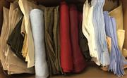 Sale 8310A - Lot 318 - A large quantity of linen napkins, various styles and colours