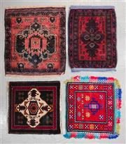 Sale 8480C - Lot 39 - 4 x Persian Door Mats Approx. 80cm x 70cm
